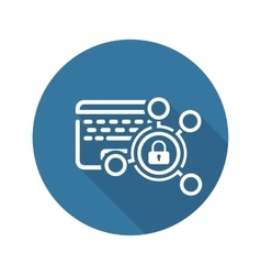 High Security Level Icon Flat Design vector