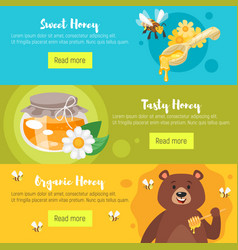 honey banners template vector image
