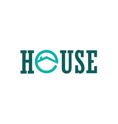 house circle logo vector image