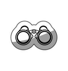 Isolated binocular object design vector image