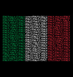 italy flag collage of italy text items vector image