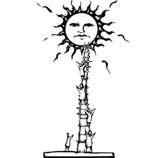 Ladder to the Sun vector image