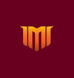 letter m gaming esport logo design creative logo vector image