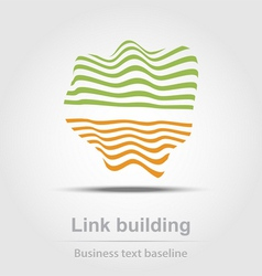 Link building business icon vector image