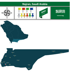 Map of najran saudi arabia vector