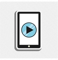 media player design vector image