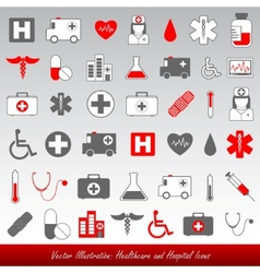 Medical icons and symbols healthcare vector