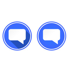 messaging round flat icon chat icon isolated on vector image