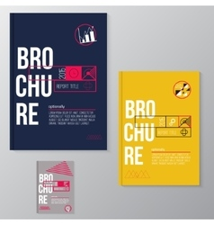 Modern brochure minimal cover design vector