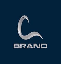 modern initial l logo creative concept vector image