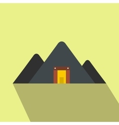 Mountain mine flat icon vector image