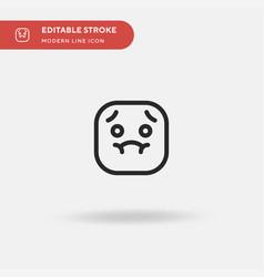 nausea simple icon symbol vector image