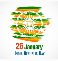 Of india republic day for 26 vector