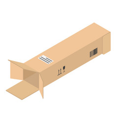 open long box icon isometric style vector image