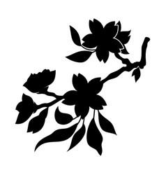 oriental cherry 4 vector image