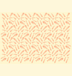 pattern with fish skeletons vector image