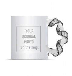 photo on mug vector image