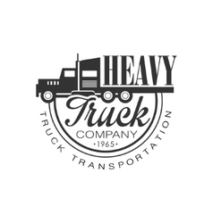 Premium Heavy Trucks Company Club Logo Black And vector image