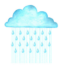 Raining image with blue rain cloud in wet day vector