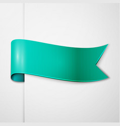 Realistic shiny aqua ribbon isolated vector