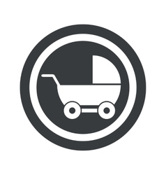 Round black pram sign vector