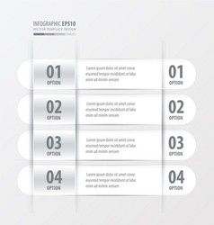 Rounded Banner template white color vector