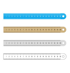 rulers set vector image