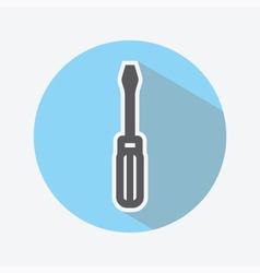 Screwdriver Color Icon vector