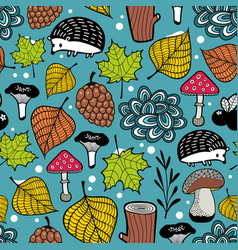 Seamless pattern of winter coming vector