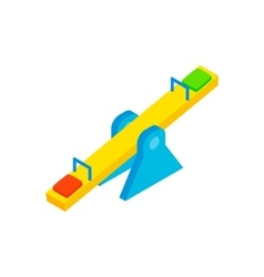 Seesaw isometric 3d icon vector