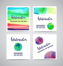 Set of Banners with green violet and blue vector image