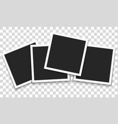 Set of template retro frame photo vector