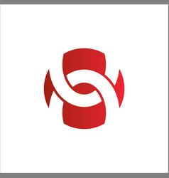shape circle abstract round logo vector image