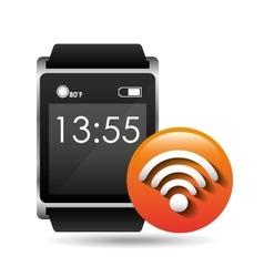 Smart watch concept connection wifi social media vector