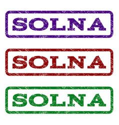 solna watermark stamp vector image