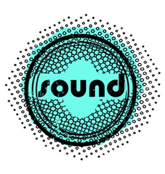 sound stamp vector image