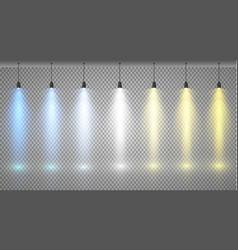 spotlights scene light effects eps 10 vector image