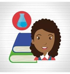 Student books school elements vector