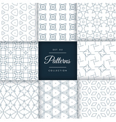 Stylish geometric patterns set collection vector