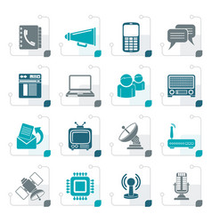 stylized communication connection technology vector image