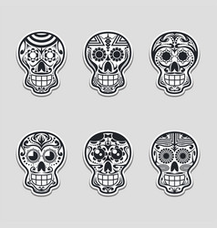 sugar skull set vector image