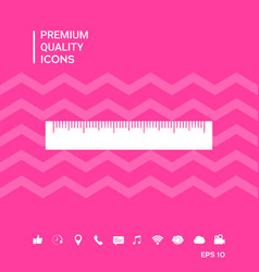 The ruler icon vector