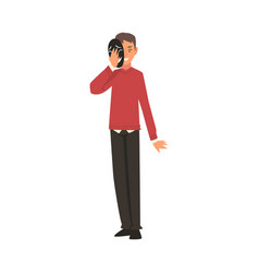 young man covering his face with mask man hiding vector image