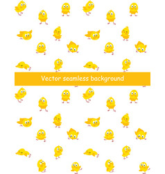 easter seamless pattern with funny chicks vector image