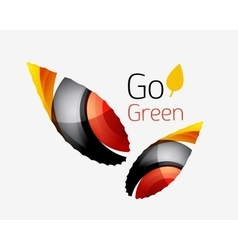Go green abstract nature logo vector image