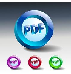 pdf icon button internet document file vector image