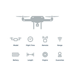 Quadrocopter concept outline objects with vector