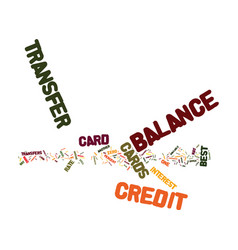 the best balance transfer credit cards text vector image vector image