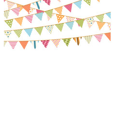 background with bunting vector image vector image