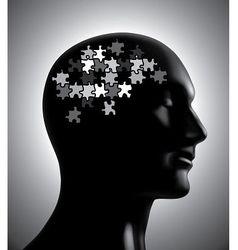 Brainstorm puzzle vector image